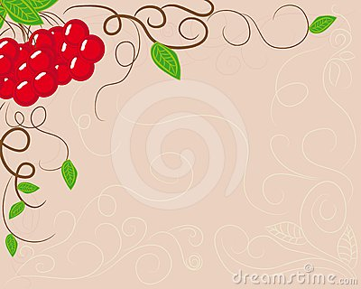 Abstract frame with berries