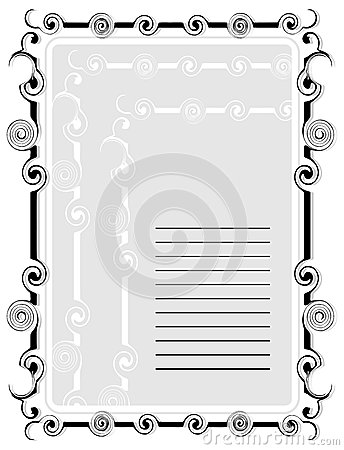 Abstract frame for text with ornaments