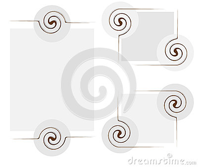 Abstract frame with twirl elements