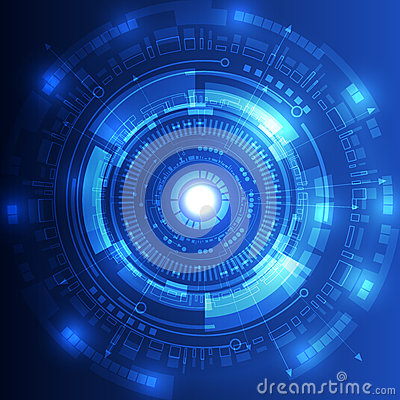 Free Abstract Future Technology Concept Background, Vector Illustration Royalty Free Stock Photo - 50074285