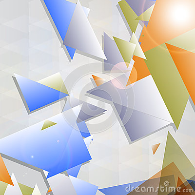 Abstract futuristic background with geometric shap