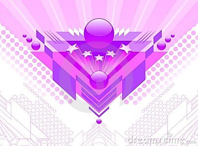 Abstract futuristic design