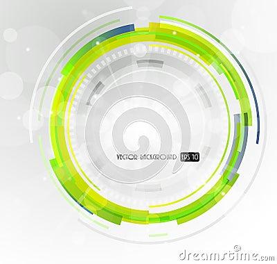 Abstract futuristic green circle.