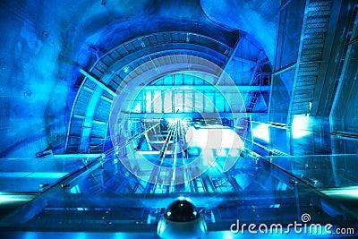 Abstract futuristic machine
