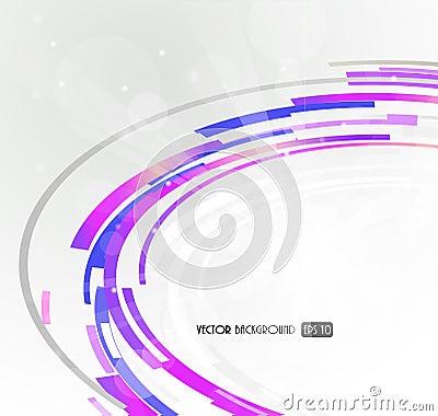 Abstract futuristic purple 3D circle.