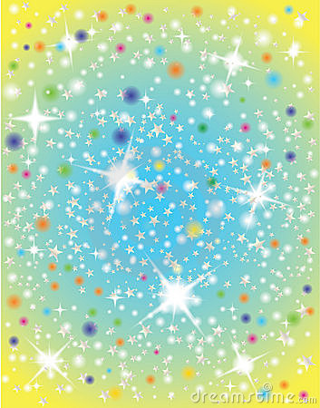 Abstract galaxy with stars