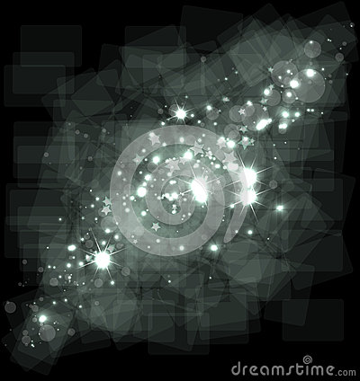 Abstract galaxy stars on dark sky space background