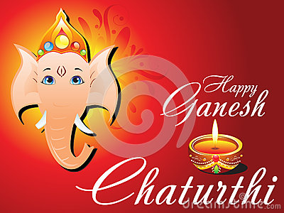 Abstract ganesh chaturthi card
