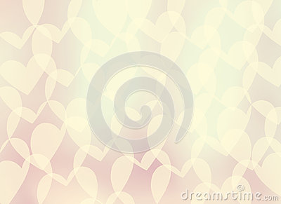 Abstract gentle romantic background-heart