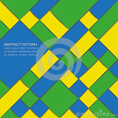 Abstract geometric background in Brazil flag colors