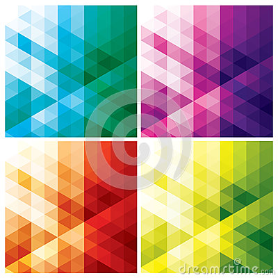 Free Abstract Geometric Backgrounds With Triangles Royalty Free Stock Photography - 34557327