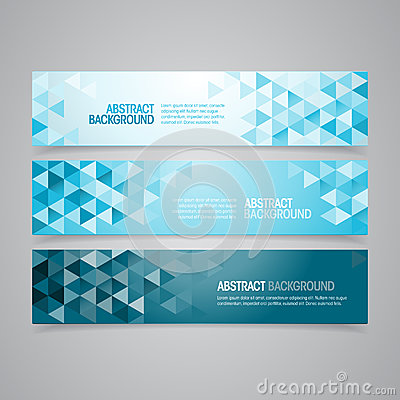 Free Abstract Geometric Banners Royalty Free Stock Photos - 39466118
