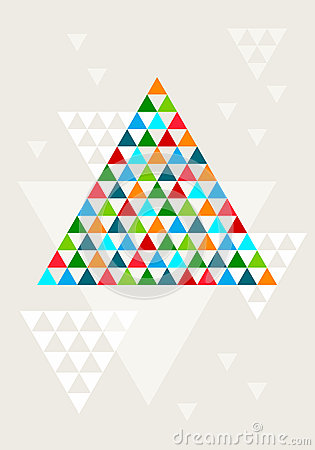 Abstract geometric Christmas tree, vector