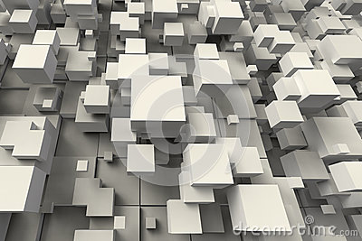 Abstract geometric cube shape
