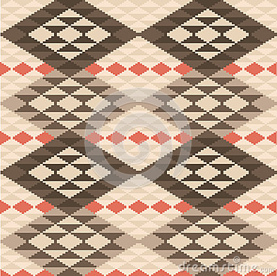 Abstract geometric ethnic rug pattern