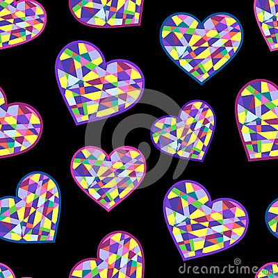 Abstract geometric hearts