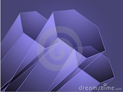 Abstract geometric hexagon design