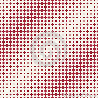 Abstract geometric hipster fashion halftone red square pattern Vector Illustration
