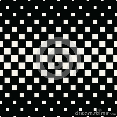 Abstract geometric hipster fashion halftone square pattern Vector Illustration