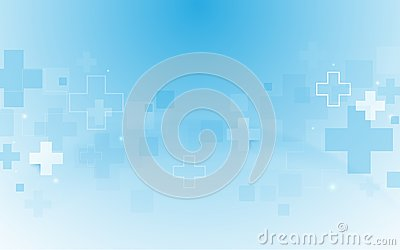 Abstract geometric medical cross shape medicine and science concept background Vector Illustration