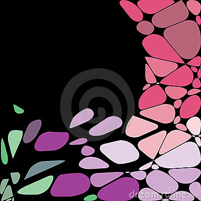 Abstract geometric mosaic background.