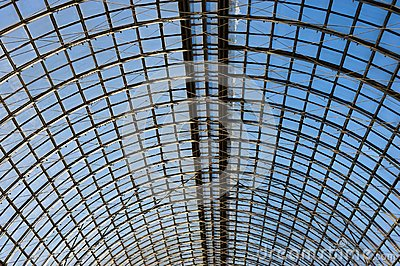 Abstract geometric pattern ceiling
