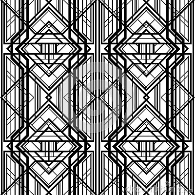 abstract geometric pattern interwoven with volumetric grid lines a background in art deco style art deco furniture lines