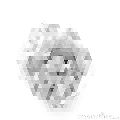 Free Abstract Geometric Pattern On White Background. Gray Stained-glass Pattern. Vector Royalty Free Stock Photos - 88741738