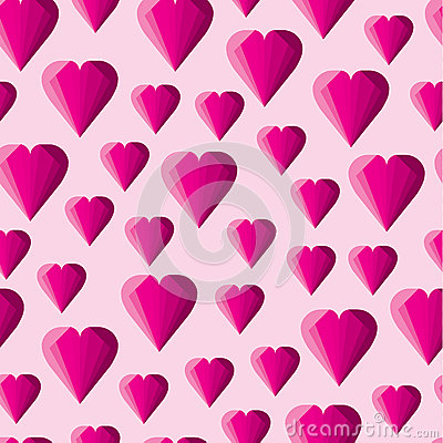Free Abstract Geometric Pink Hearts Pattern Stock Photo - 66773110