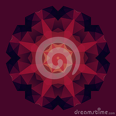 Abstract geometric symmetry flower