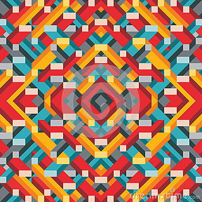 Free Abstract Geometric Vector Background For Presentation, Booklet, Website And Other Design Project. Mosaic Colored Pattern. Stock Photos - 95948063