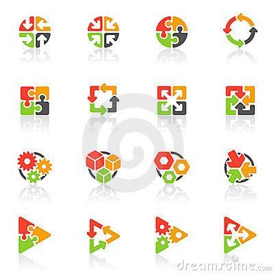 Free Abstract Geometrical Icons. Vector Logo Template Royalty Free Stock Images - 11893939