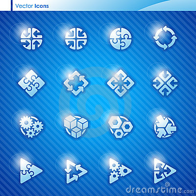 Abstract geometrical icons. Vector logo template s