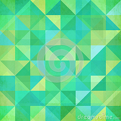 Abstract geometry trianglesgreen pattern