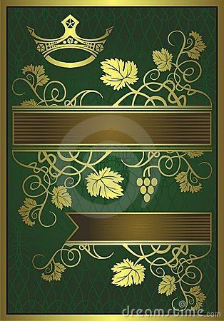 Abstract gilded floral design