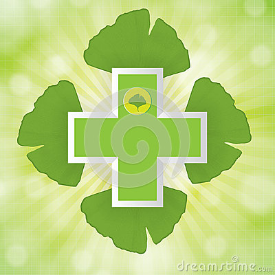 Abstract ginkgo biloba background