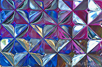 Abstract Of Glass Block W/Varied Colors