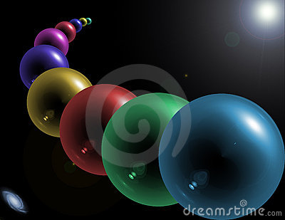 Abstract glass orbs