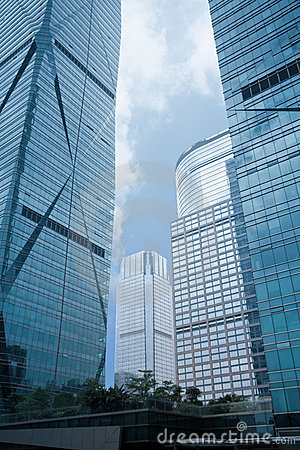 Abstract glass skyscrapers