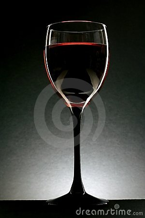 Abstract Glass of Wine