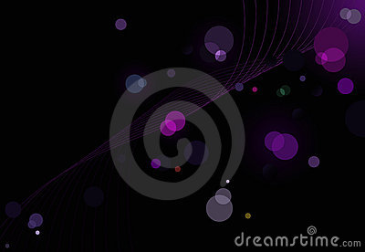 Abstract glittering lights background with waves