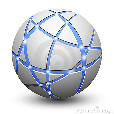 Abstract Globe Icon