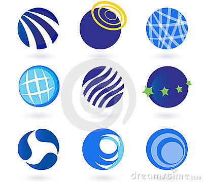 Abstract globes, spheres, circles  icons