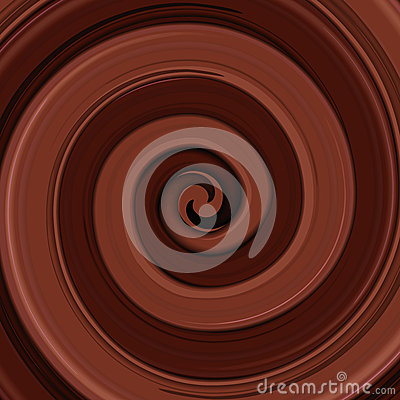 Abstract glossy  chocolate swirl background