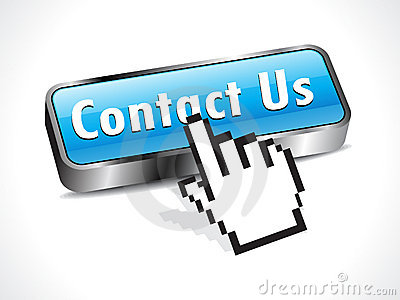 Abstract glossy contact button with hand cursor