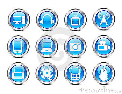 Abstract glossy electronic icon