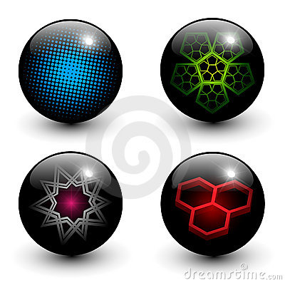 Abstract glossy globes