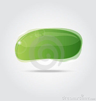Abstract glossy speech bubble isolated