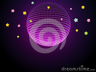 Abstract glow disco ball