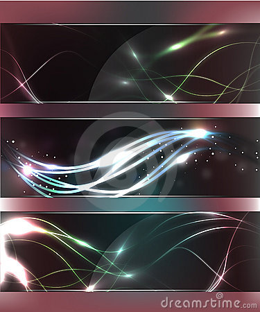 Abstract Glow Glass Banners